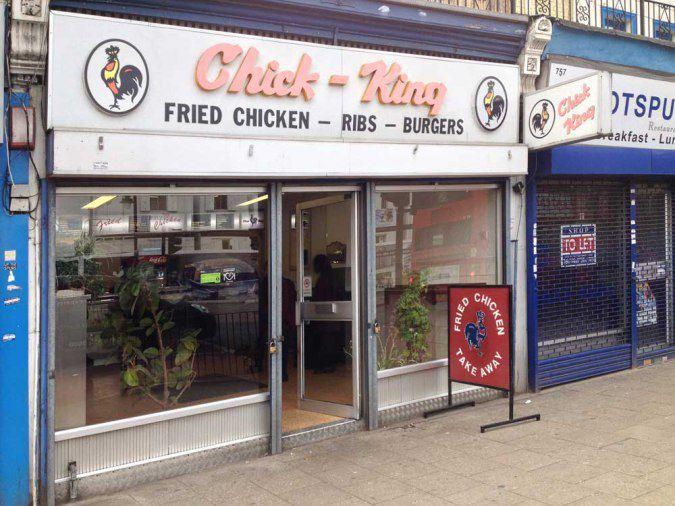 Chick King fried chicken restaurant in Tottenham, London