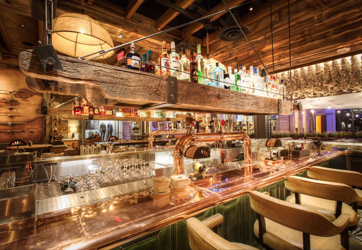 A closeup of the bar at Water Grill