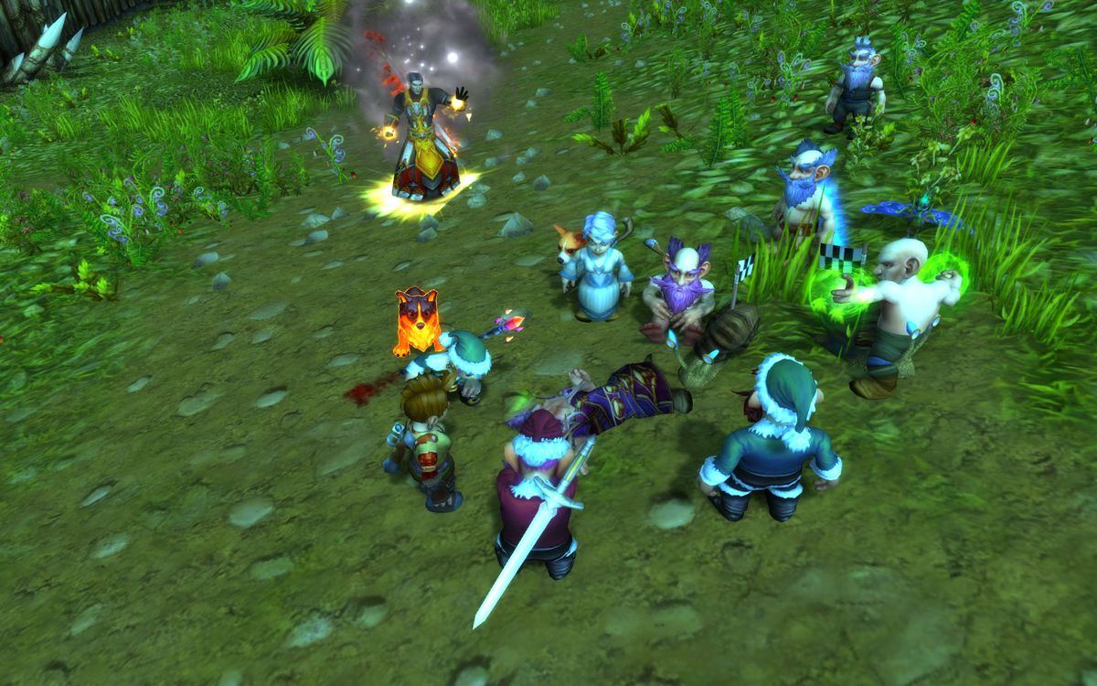 WOW gnome friends gather to mourn