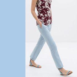 "Placid Blue: <b>Zara</b> trousers, <a href=""http://www.zara.com/us/en/woman/trousers/trousers-with-slit-at-the-hem-c358005p1797006.html"">$70</a>"