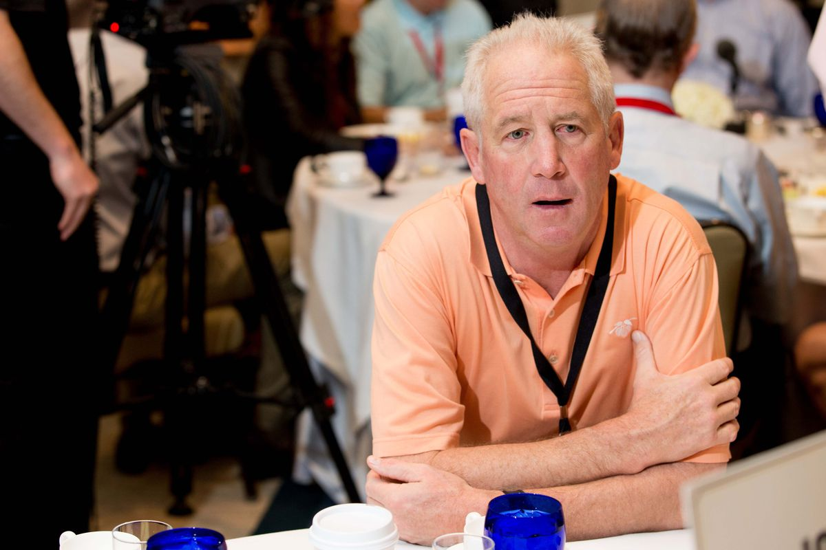 John Fox sat with the media at the NFL annual meeting.