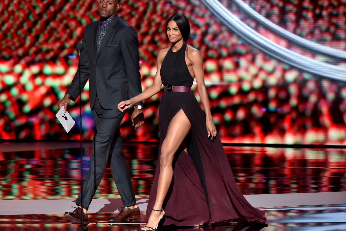 On stage at the 2015 ESPY Awards. Photo: Getty