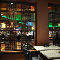 Looking out on the casino floor from the bar.