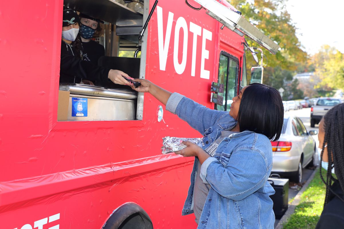 Vote.org Food Trucks Deliver Tacos And Water To Philadelphia Voters In Line On Election Day