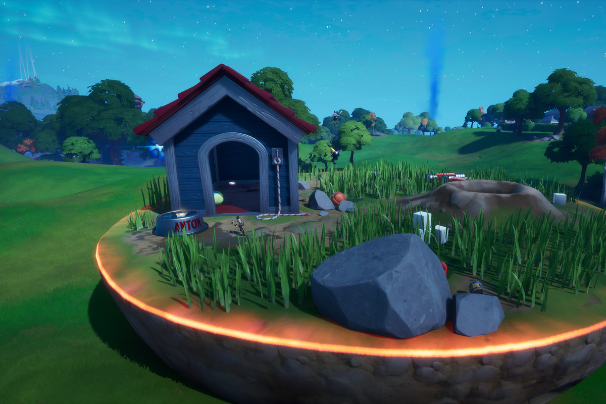 Fortnite's giant dog house at Ant Manor