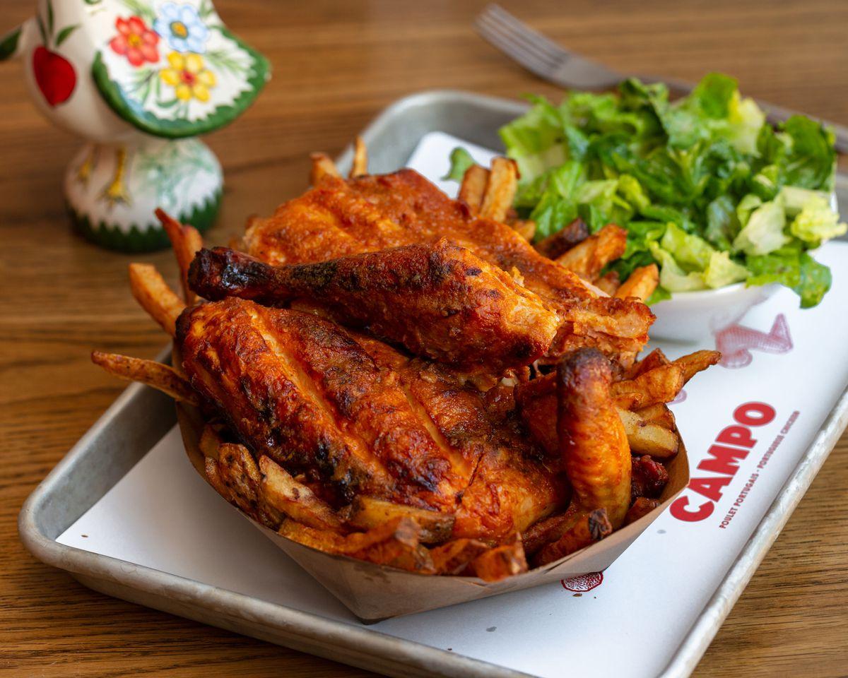 piri piri chicken with side of salad