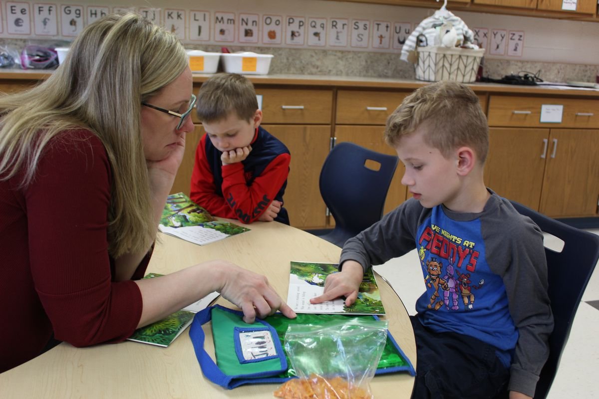 Students learn the basics of reading at Roosevelt Elementary School in Livonia. Michigan's fourth-grade reading scores improved in 2019 compared to other states'.