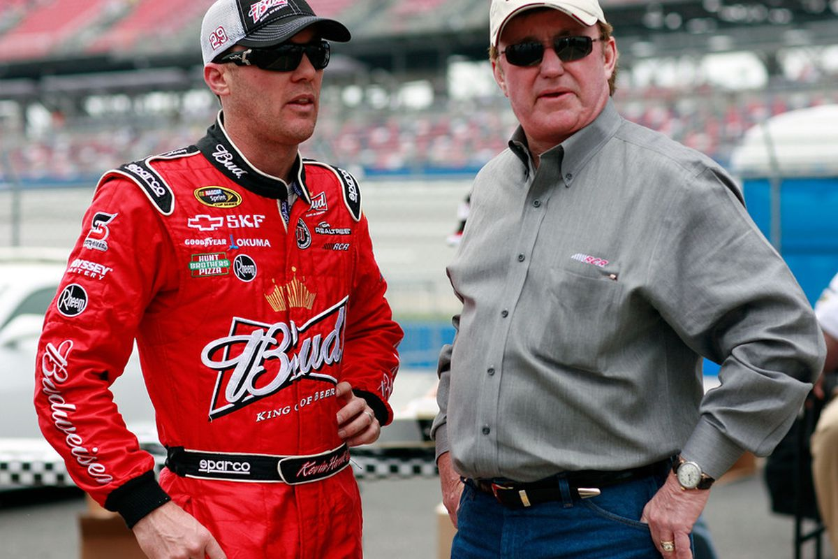 Kevin Harvick (left) will merge his Nationwide Series teams with his Sprint Cup car owner, Richard Childress, for 2012.