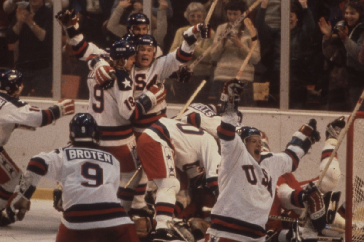 US And Russian Hockey Teams Competing In The 1980 Winter Olympics, The Miracle On Ice