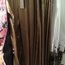 Silk track pants, $140