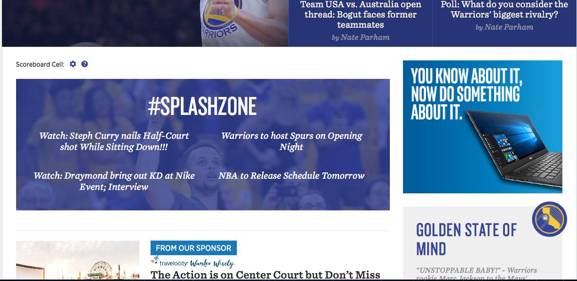 SplashZone section