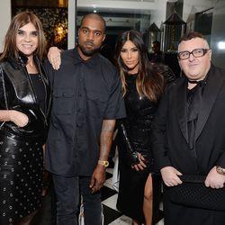 Carine Roitfeld, Kanye West, Kim Kardashian, and Alber Elbaz.