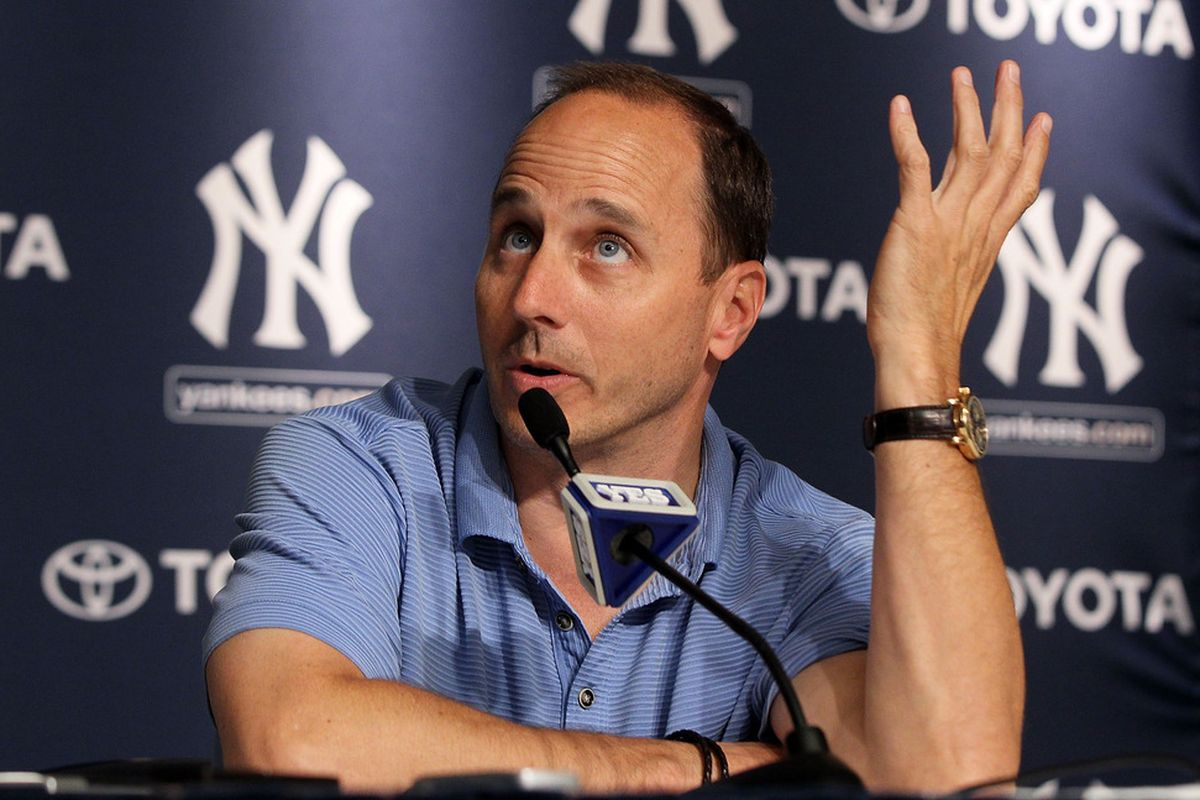 What will New York Yankees general manager Brian Cashman do at the MLB Trade Deadline? Right now that is up in the air. (Photo by Jim McIsaac/Getty Images)