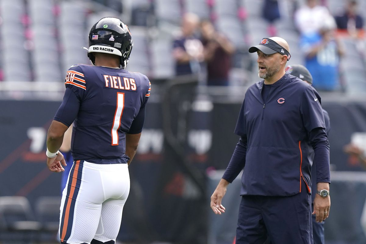 Justin Fields has started the last two games, but Matt Nagy says he'll go back to Andy Dalton when he's healthy.