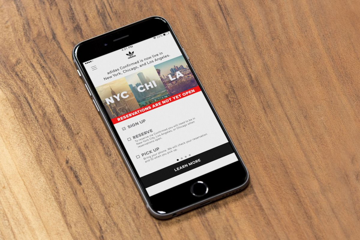 Adidas's Revolutionary Sneaker Reservation Mobile App Is Now