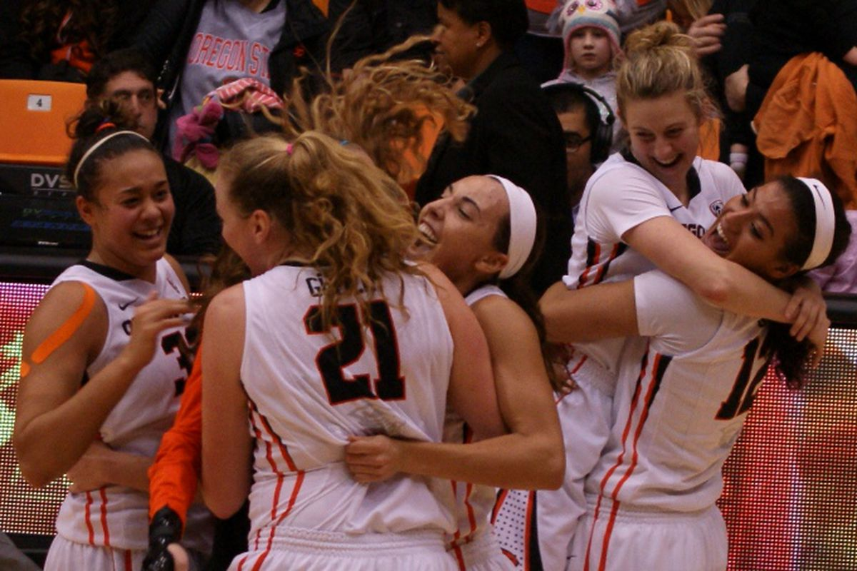 Oregon State's comeback triggered a celebration of their first win against Stanford since 2001.