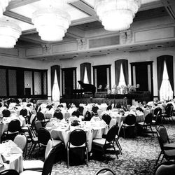 The Grand Ballroom is the crowning glory of the new addition. It provides a plush setting for banquet dancing, and has portable stage. Sept. 26, 1976.