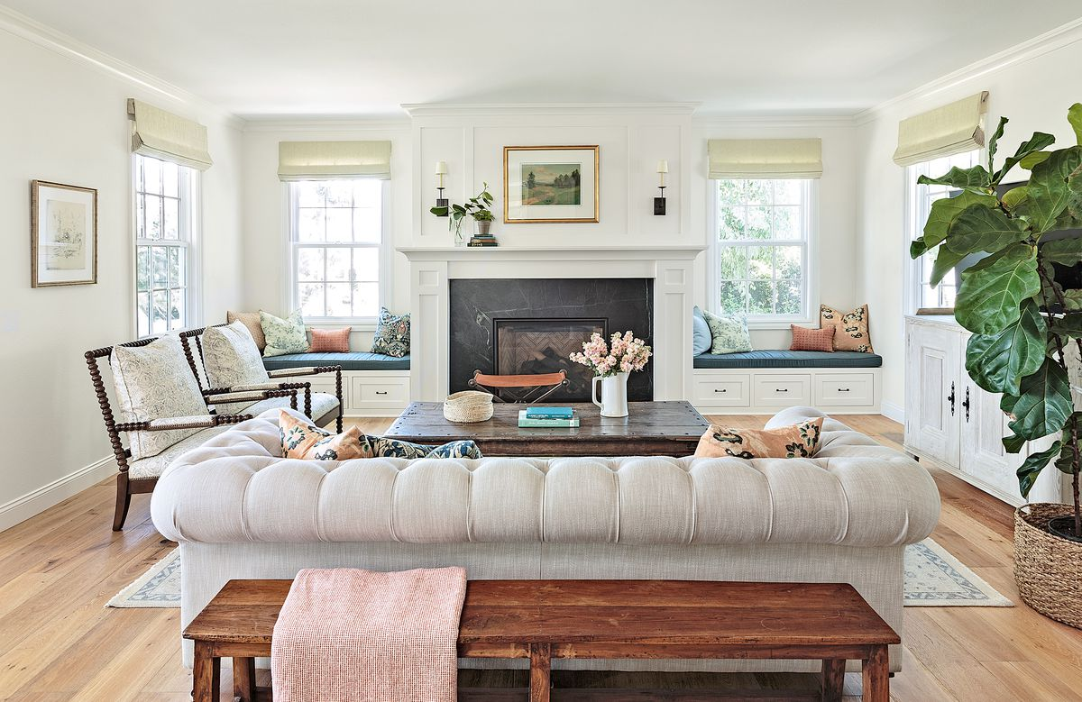 Cape Cod-style house remodel in Los Angeles, CA, family room