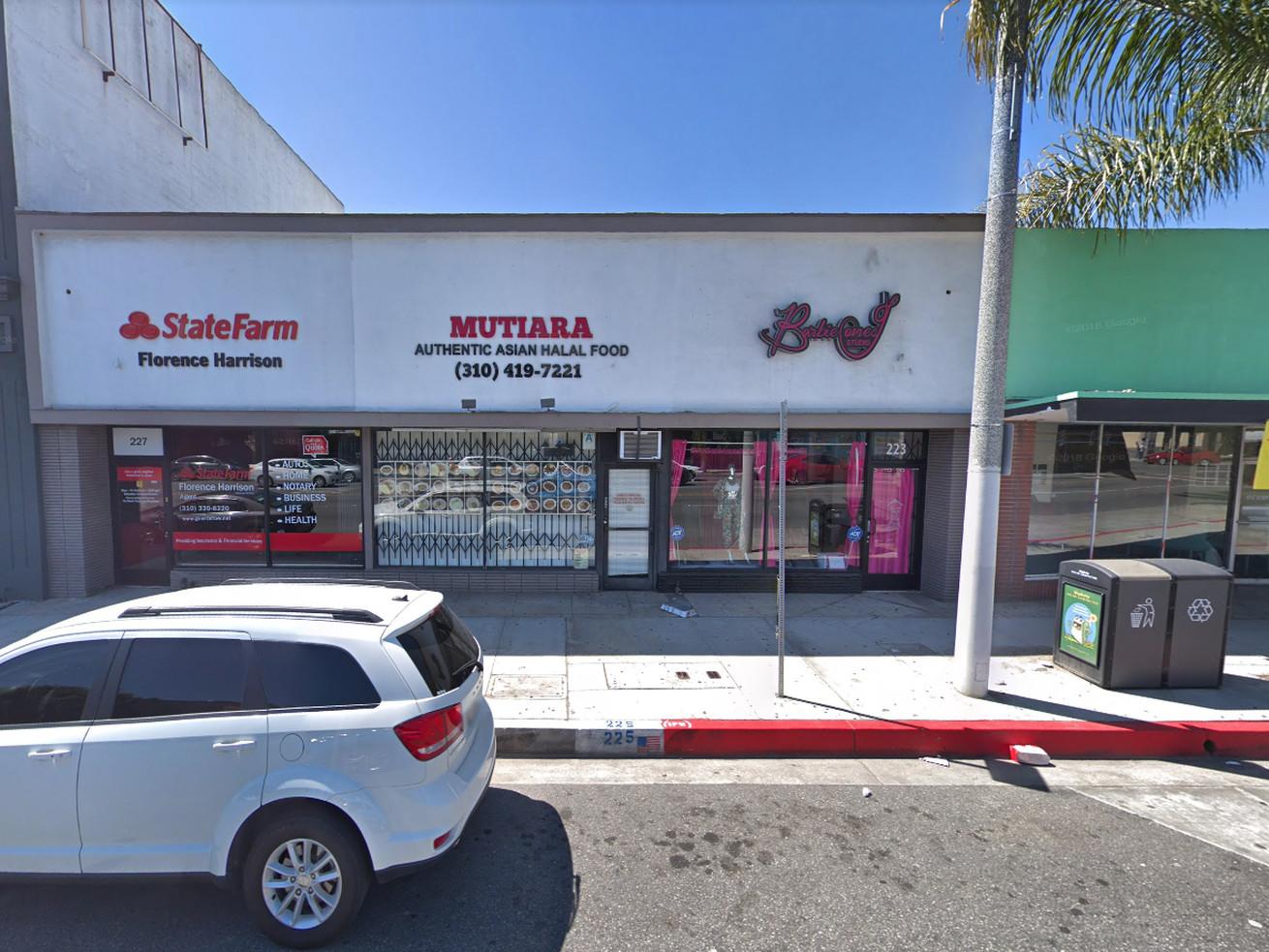 The unassuming storefront for Mutiara