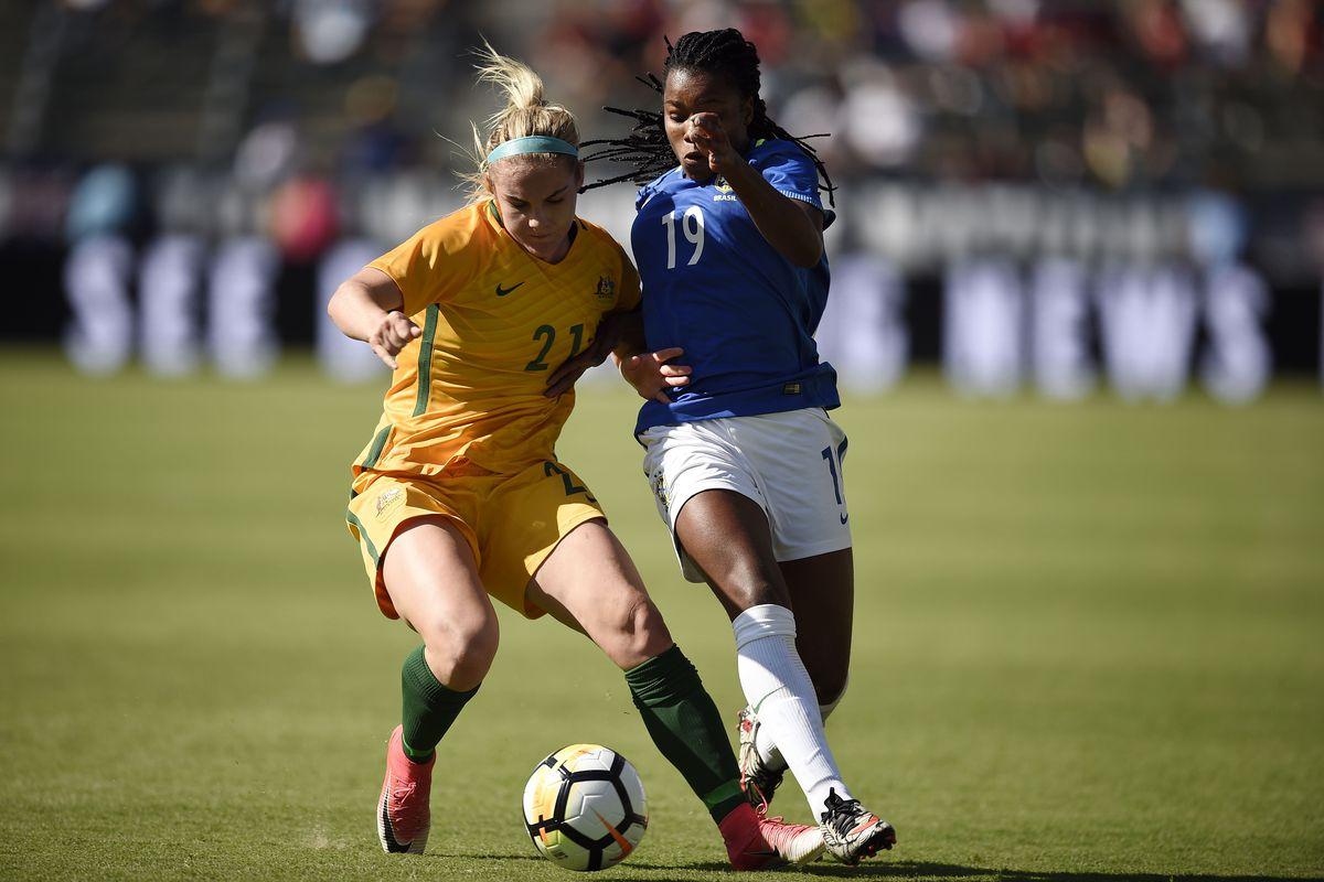 Soccer: Tournament of Nations - Women's Soccer-Brazil at Australia