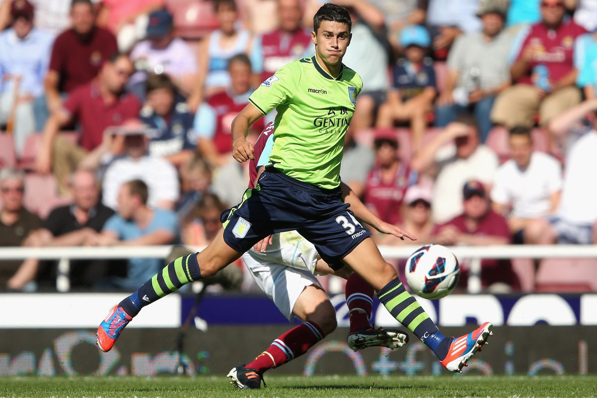 LONDON, ENGLAND - AUGUST 18:  Matthew Lowton of Aston Villa passes the ball during the Premier League match between West Ham United and Aston Villa at the Boleyn Ground on August 18, 2012 in London, England.  (Photo by Warren Little/Getty Images)