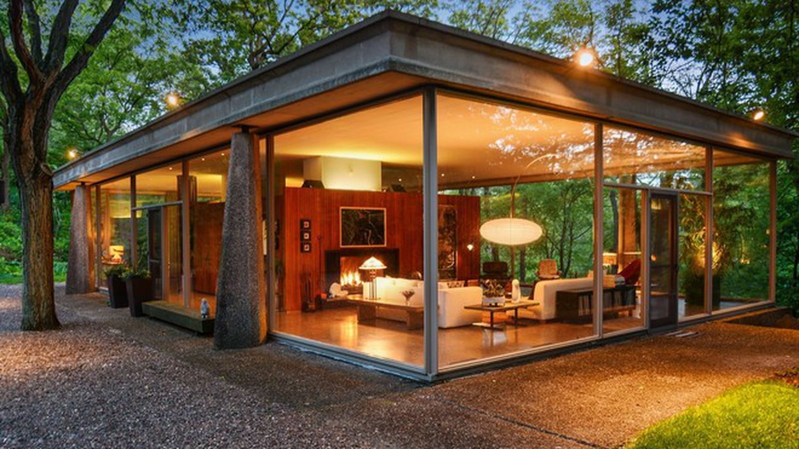 Own an Award Winning Mid-Century Glass House for Just ...