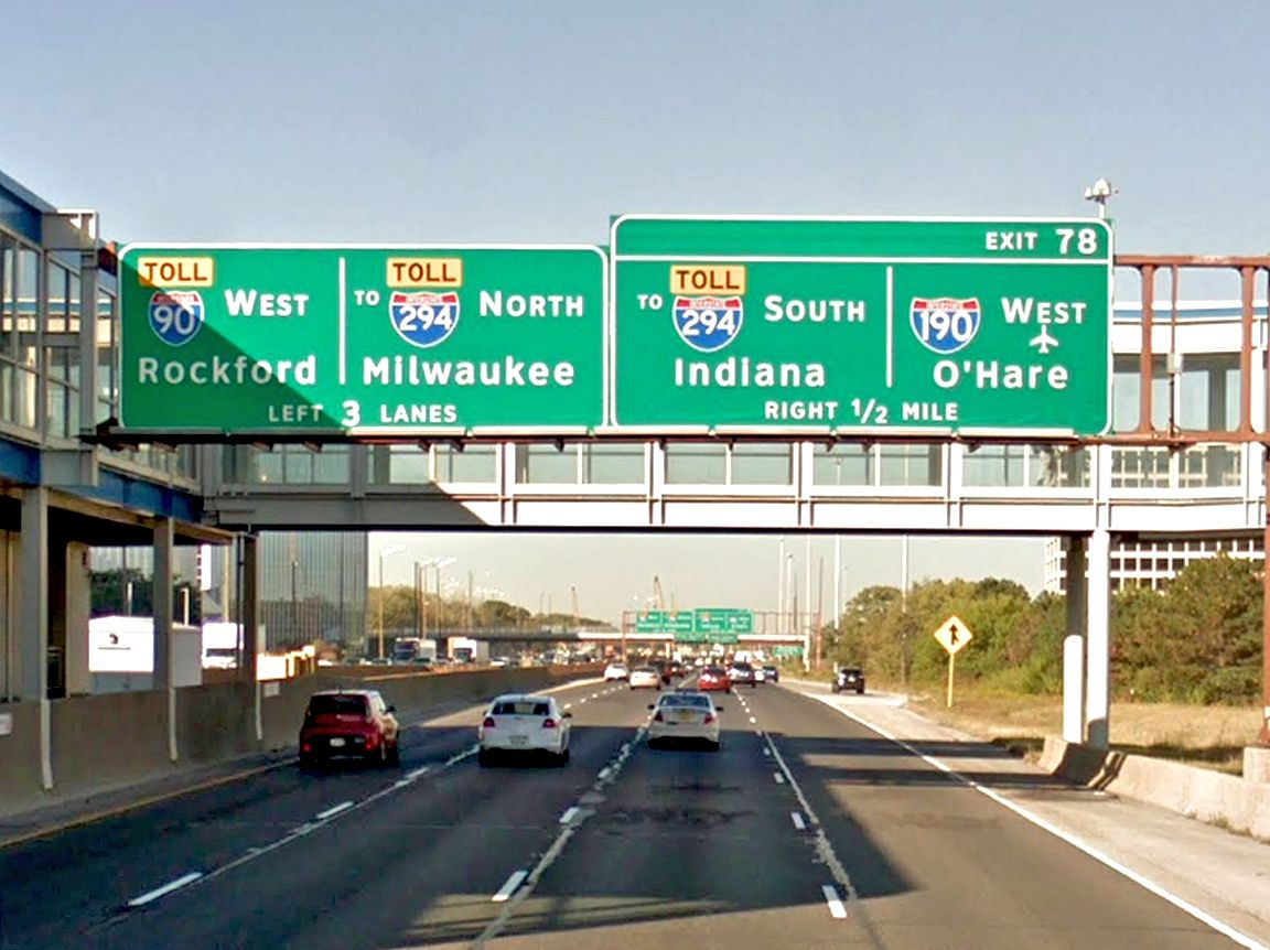 After heading down the Kennedy to River Road, the Labor Day protesters may try to cross the median and block both eastbound and westbound lanes of the expressway near O'Hare International Airport.   Google Streetview