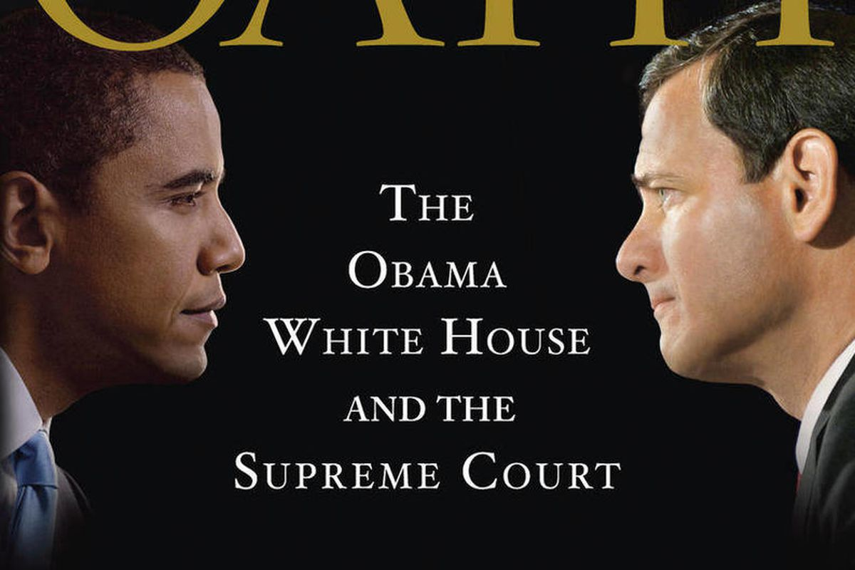 """This book cover image released by Doubleday shows """"The Oath: The Obama White House and the Supreme Court,"""" by Jeffrey Toobin."""