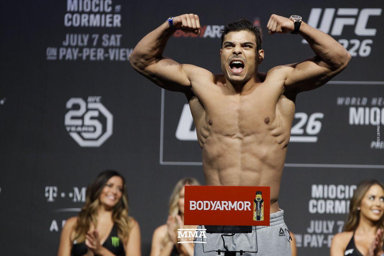 Paulo Costa will no longer fight Yoel Romero in the main event of the UFC's return to Florida.