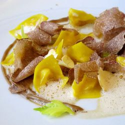 """Eleve Mandison Park's white truffle pasta by <a href=""""http://www.flickr.com/photos/wwny/5959929418/in/pool-eater/"""">wEnDaLicious</a>."""