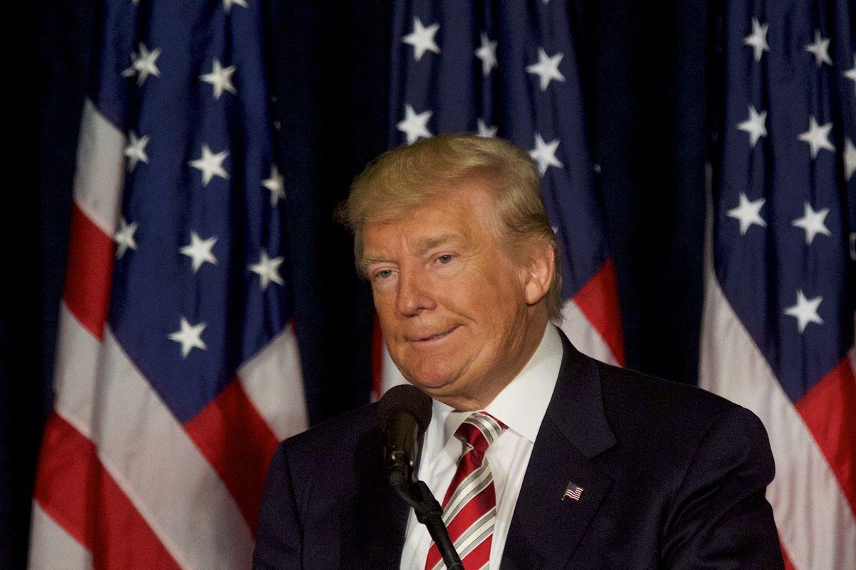 Donald Trump campaigns in Philadelphia.