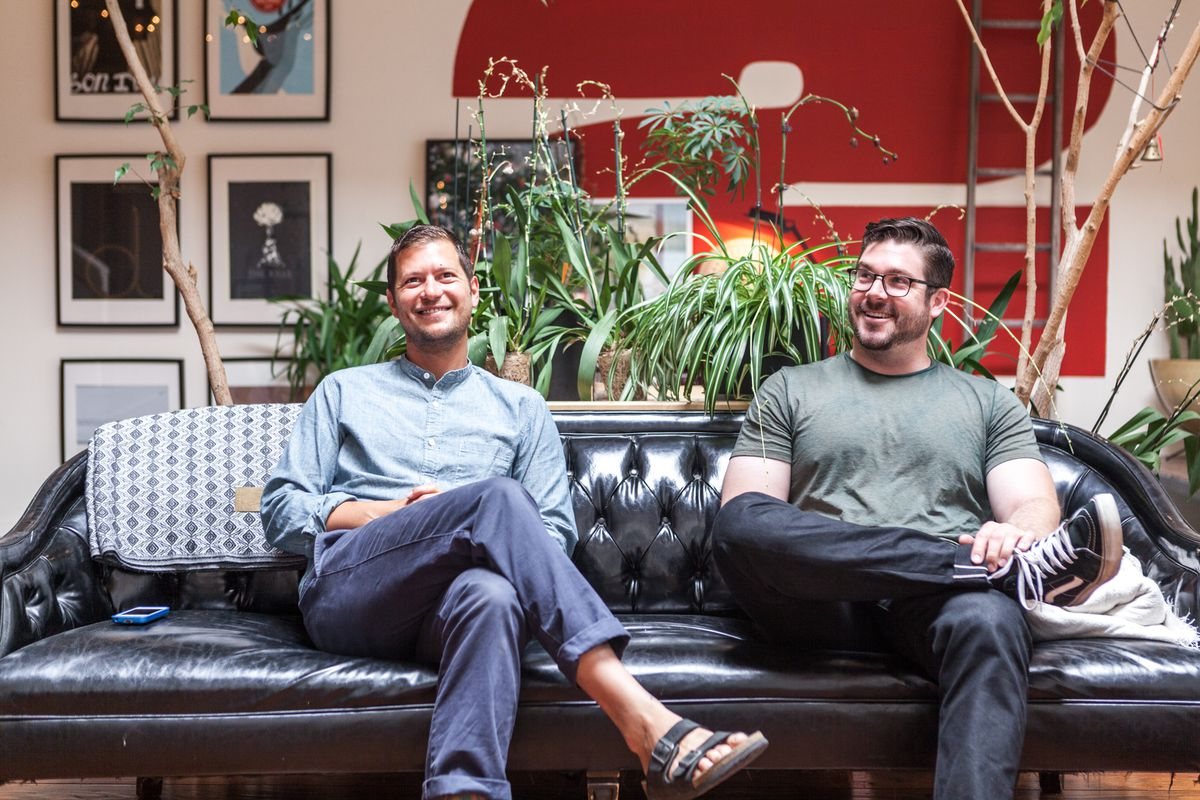 Nicholas Albrecht and Ben Lewis of Oakland let us into their warehouse loft.