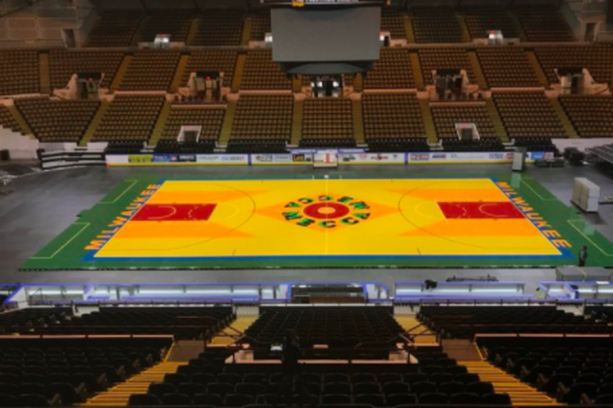 7c956ae1d34 The Bucks are bringing back the historic Mecca floor for game vs. Celtics