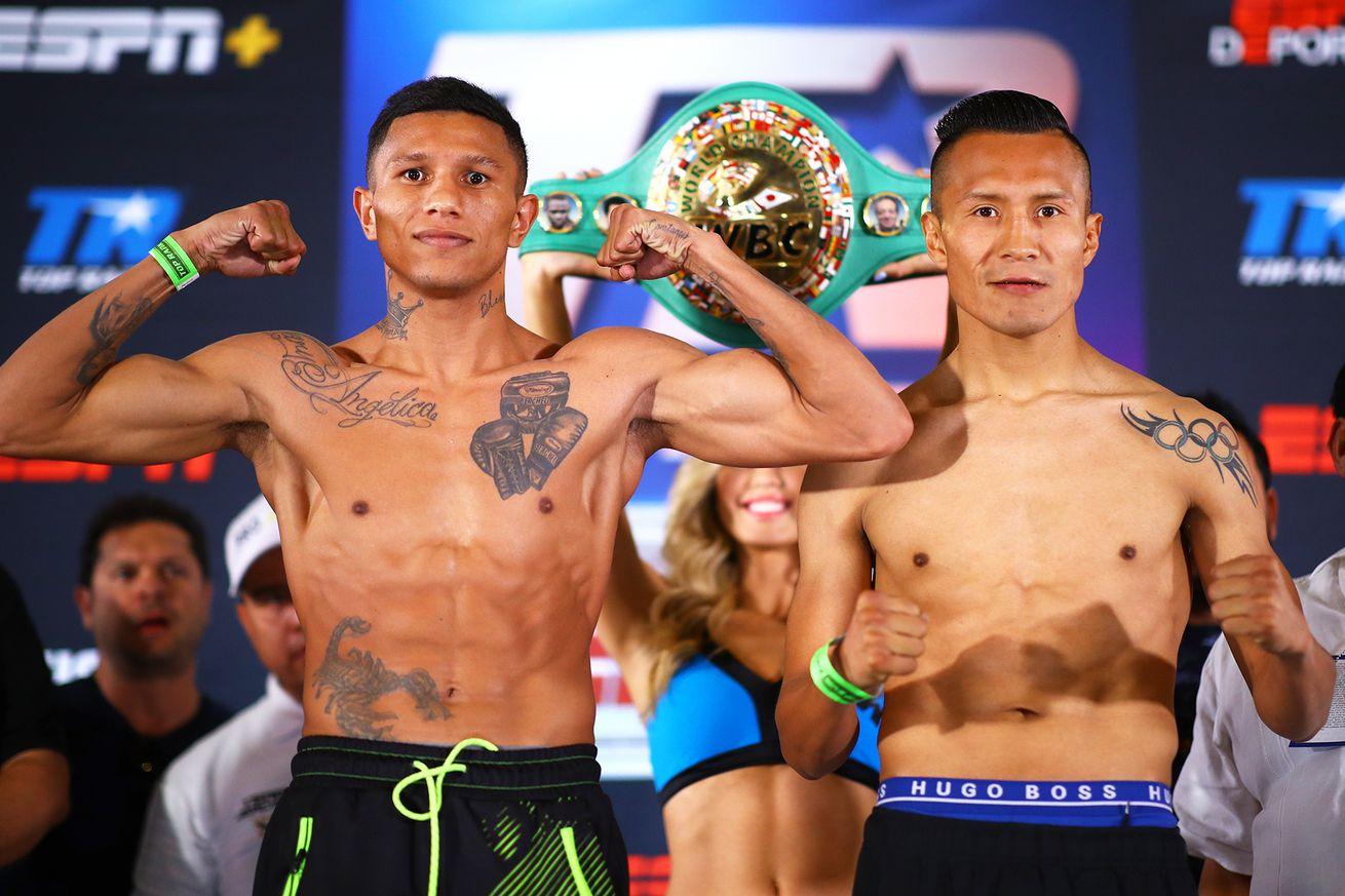 Miguel Berchelt vs Francisco Vargas pose.0 - How to watch Berchelt vs Vargas II