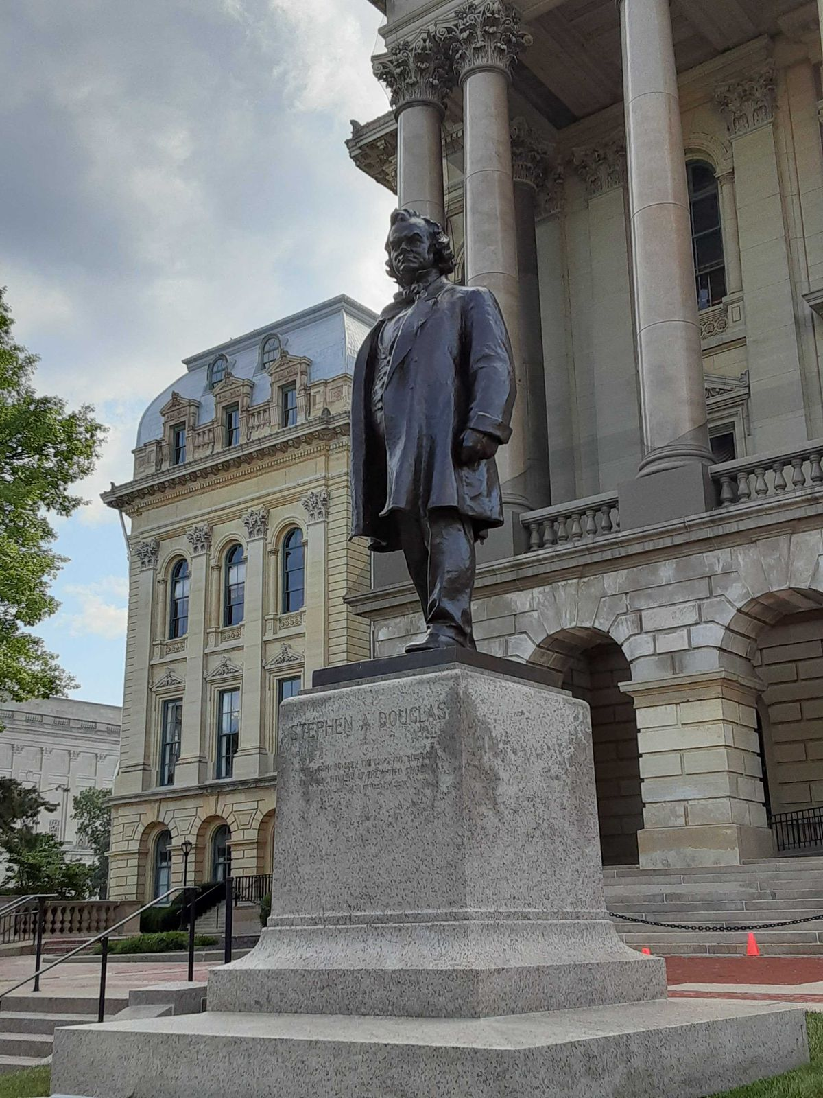 Statue of Stephen Douglas outside the state Capitol in Springfield.