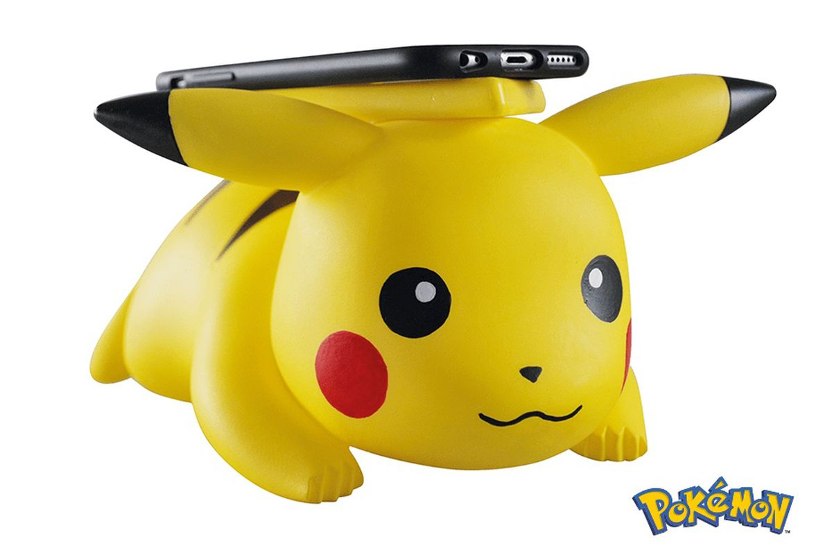 Go ahead and charge your iphone x on a wireless pikachu charger the verge - Image pikachu ...