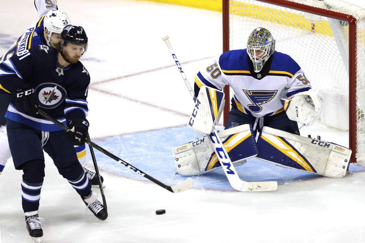 NHL: Stanley Cup Playoffs-St. Louis Blues at Winnipeg Jets