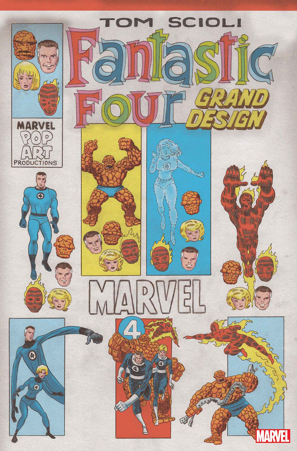 Different incarnations of the Fantastic Four on the cover of Fantastic Four: Grand Design #1, Marvel Comics (2019).