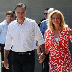 Republican presidential candidate Mitt Romney and his wife, Ann.