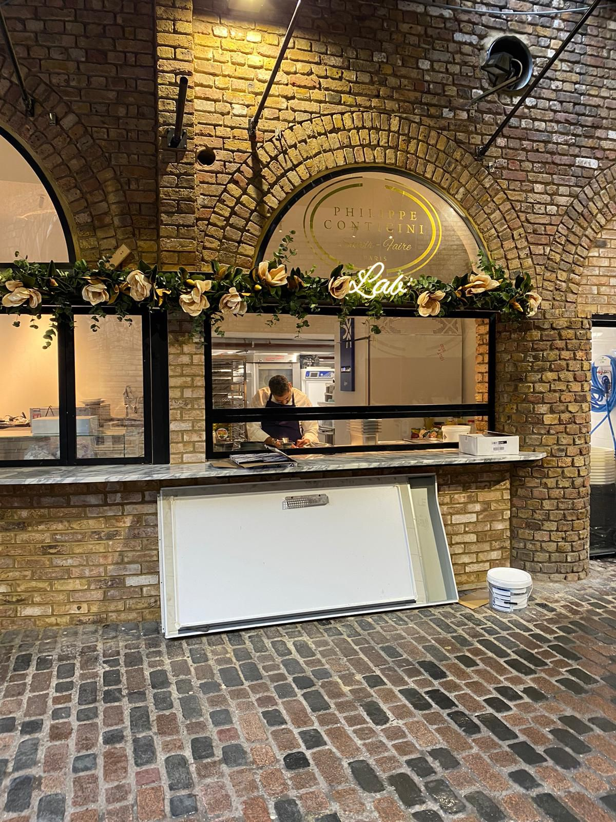 An exterior shot of Philippe Conticini pastry store in London's Camden Market