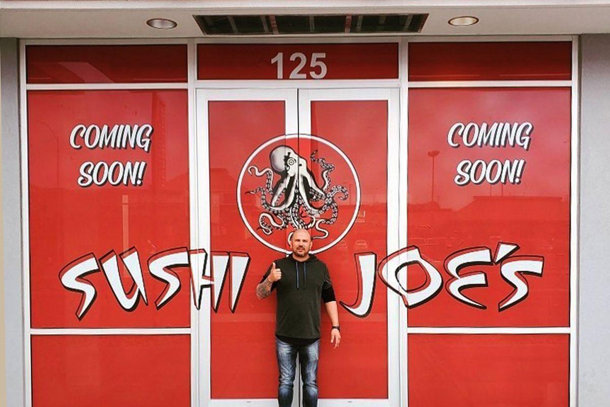 Chef Joe Richardson outside his Sushi Joe's restaurant, opening in July on Maryland Parkway.