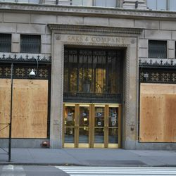 And Saks Fifth Avenue was still boarded up.