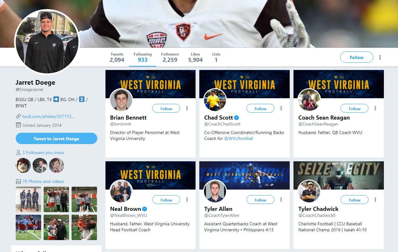 Perhaps West Virginia's starting quarterback on August 31st