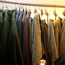 Harris Tweed cape, $181.50 (originally $605); Quilted trench, $204 (originally $680); Suede safari jacket, $261 (originally $870); Harris Tweed overcoat, $204 (originally $680) Parka Doublee Kaki, $340 (from $660, Mac Court, $317.50 (originally $635)