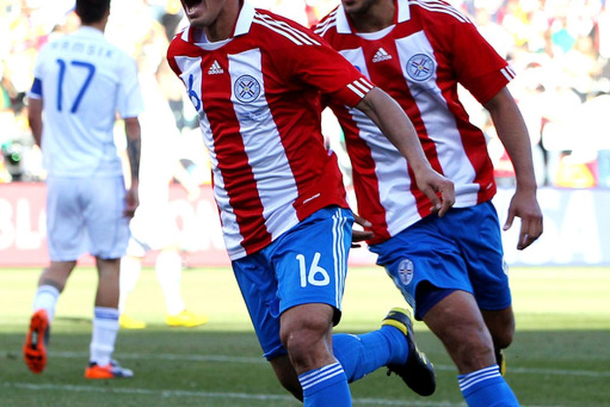 The lesser-spotted Cristian Riveros bagged a goal last night for Paraguay against Mexico.