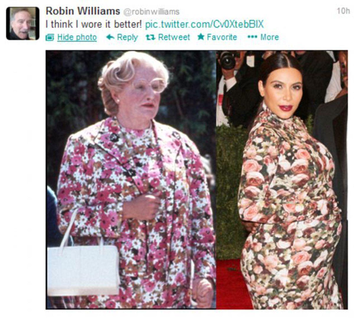 Robin Williams Kim Kardashian meme