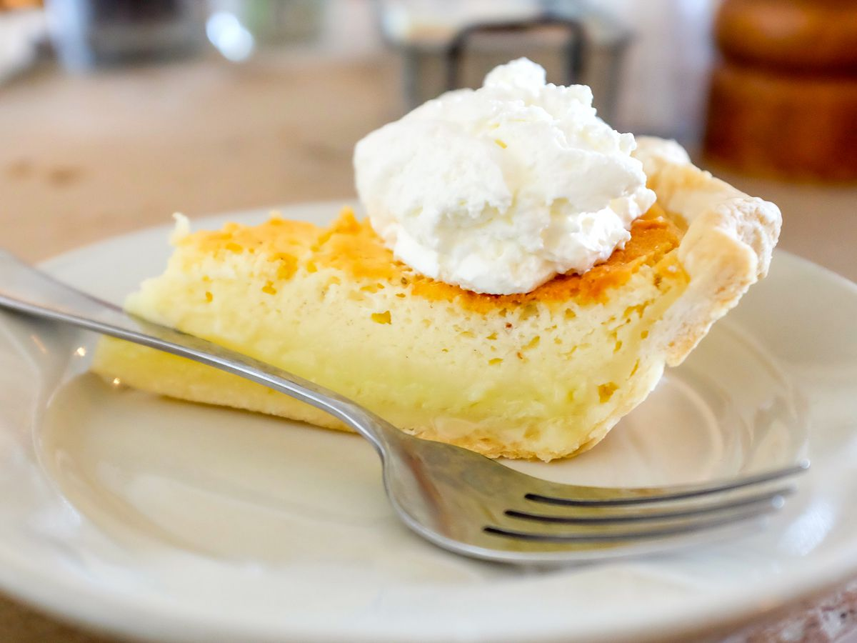 Buttermilk pie at Hominy