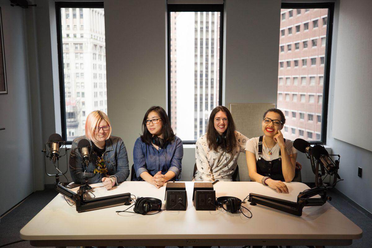 Polygon Show hosts from left to right: Chelsea Stark, Ashley Oh, Simone de Rochefort, Allegra Frank