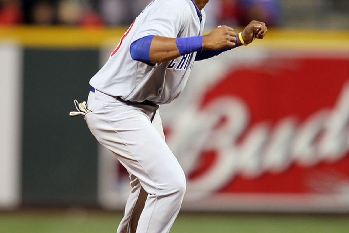 CINCINNATI - MAY 08:  Starlin Castro #13 of the Chicago Cubs is pictured during the game against the Cincinnati Reds at Great American Ball Park on May 8, 2010 in Cincinnati, Ohio.  (Photo by Andy Lyons/Getty Images)
