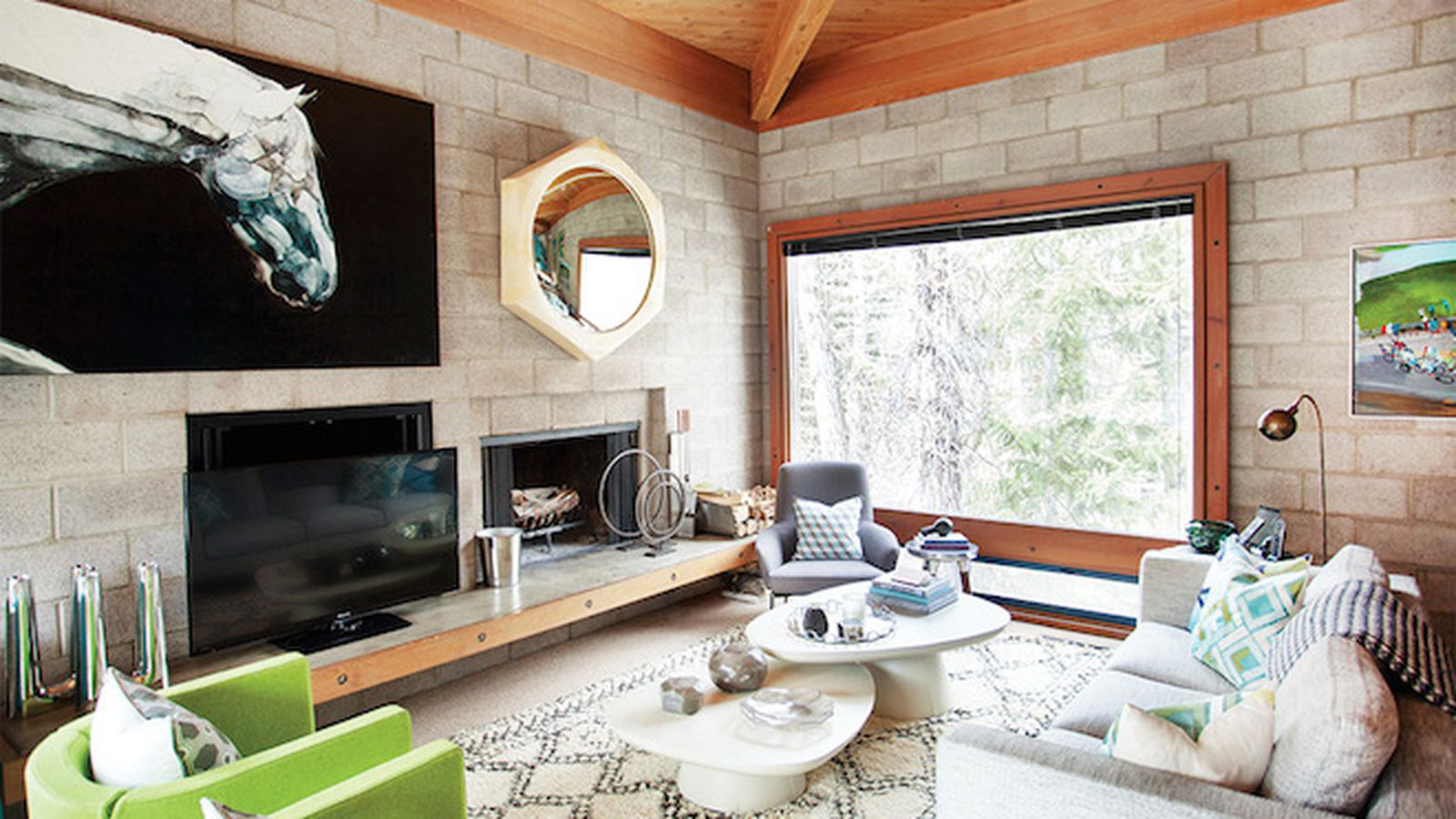 Step Inside A Surprisingly Glam Cinder Block House In